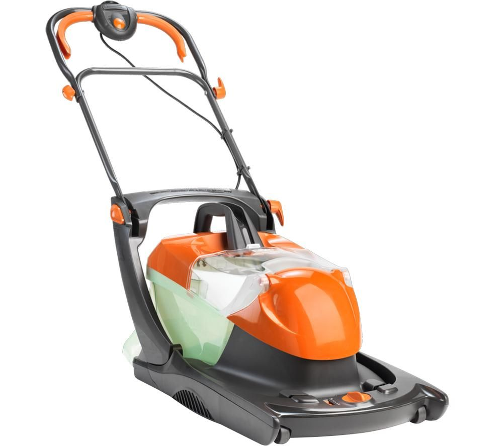 Image of FLYMO Compact Glider 330AX Corded Hover Lawn Mower - Orange & Black, Orange