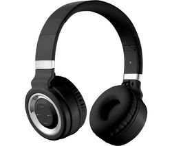 Lunar Series VK-2004-BKSL Wireless Bluetooth Headphones - Black & Silver