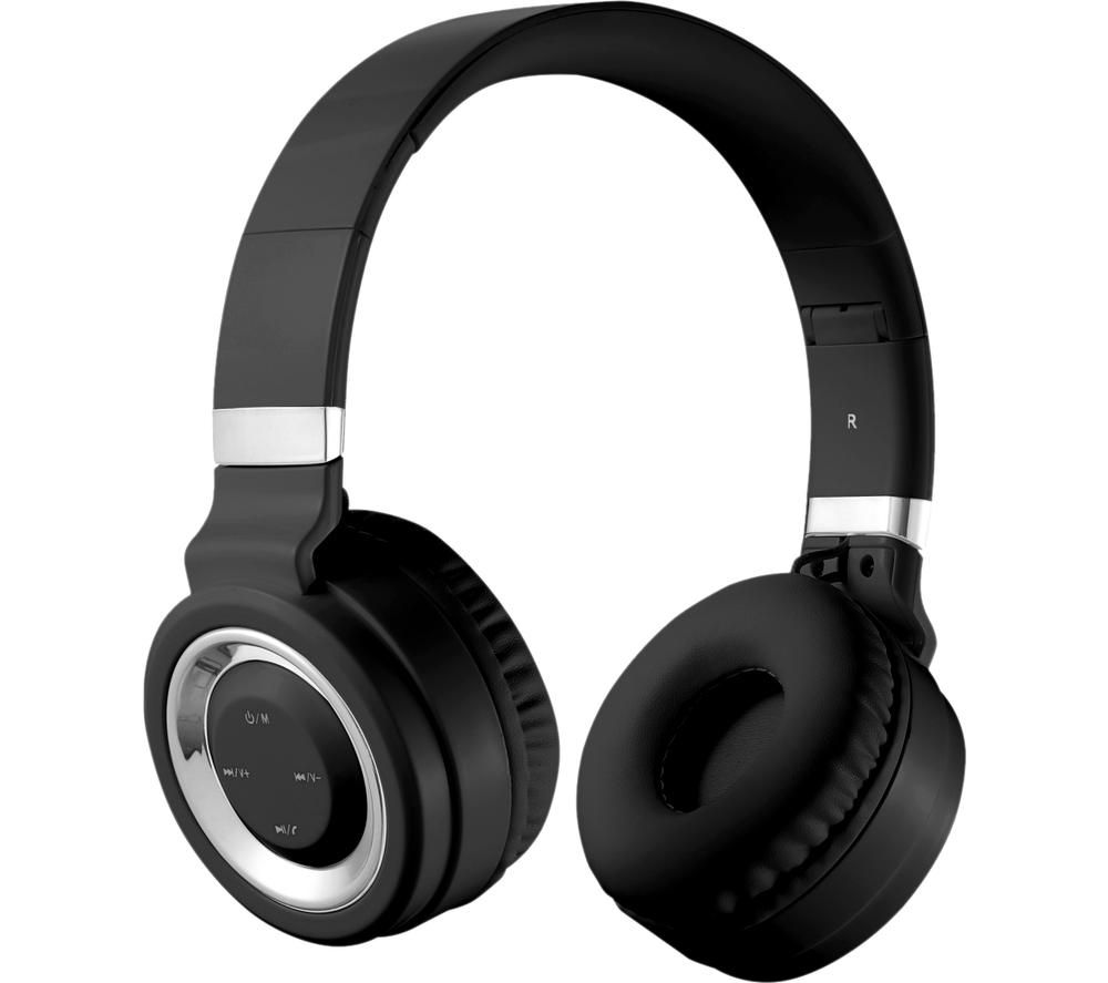 VOLKANO Lunar Series VK-2004-BKSL Wireless Bluetooth Headphones - Black & Silver