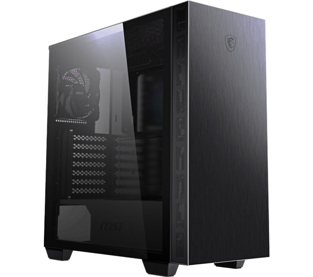 Image of MSI MPG SEKIRA 100P E-ATX Mid-Tower PC Case - Black, Black