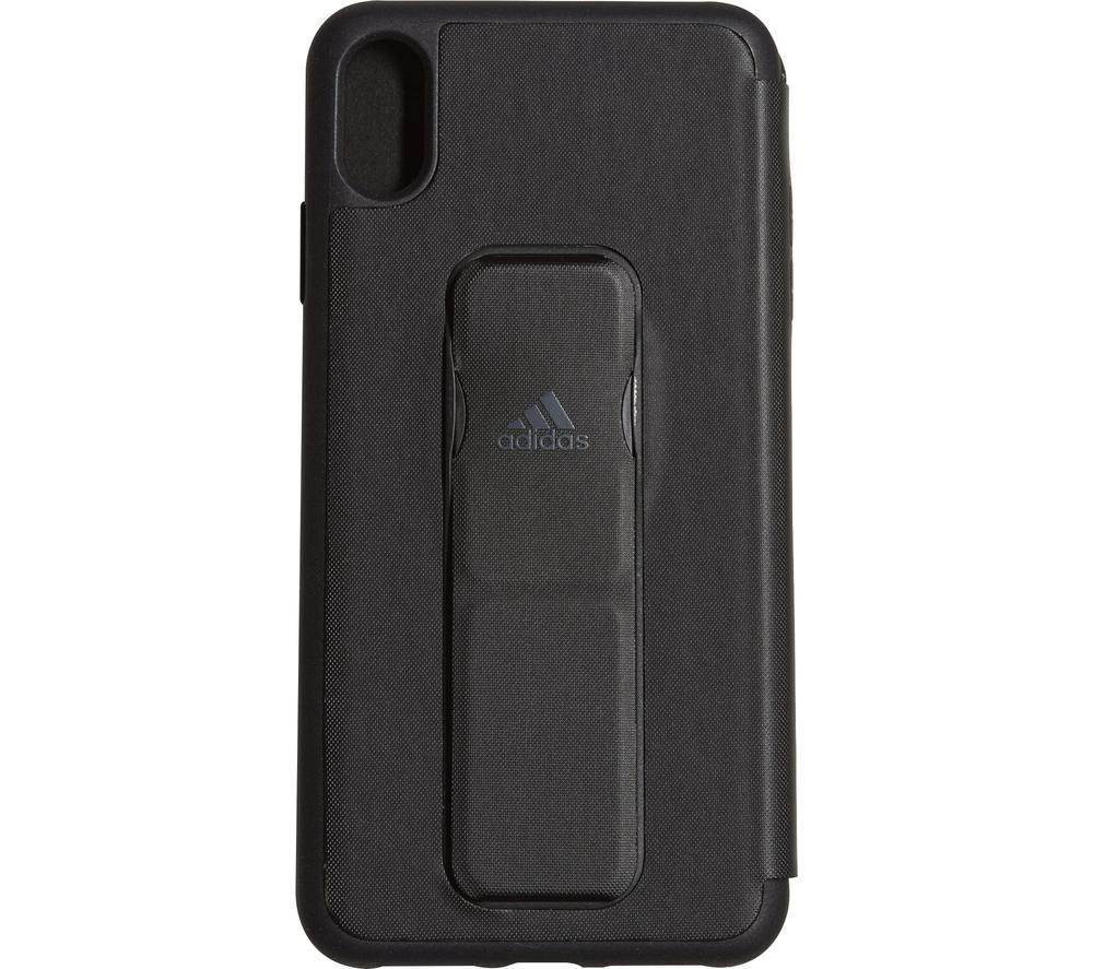 ADIDAS iPhone XS Max Folio Grip Case - Black, Black