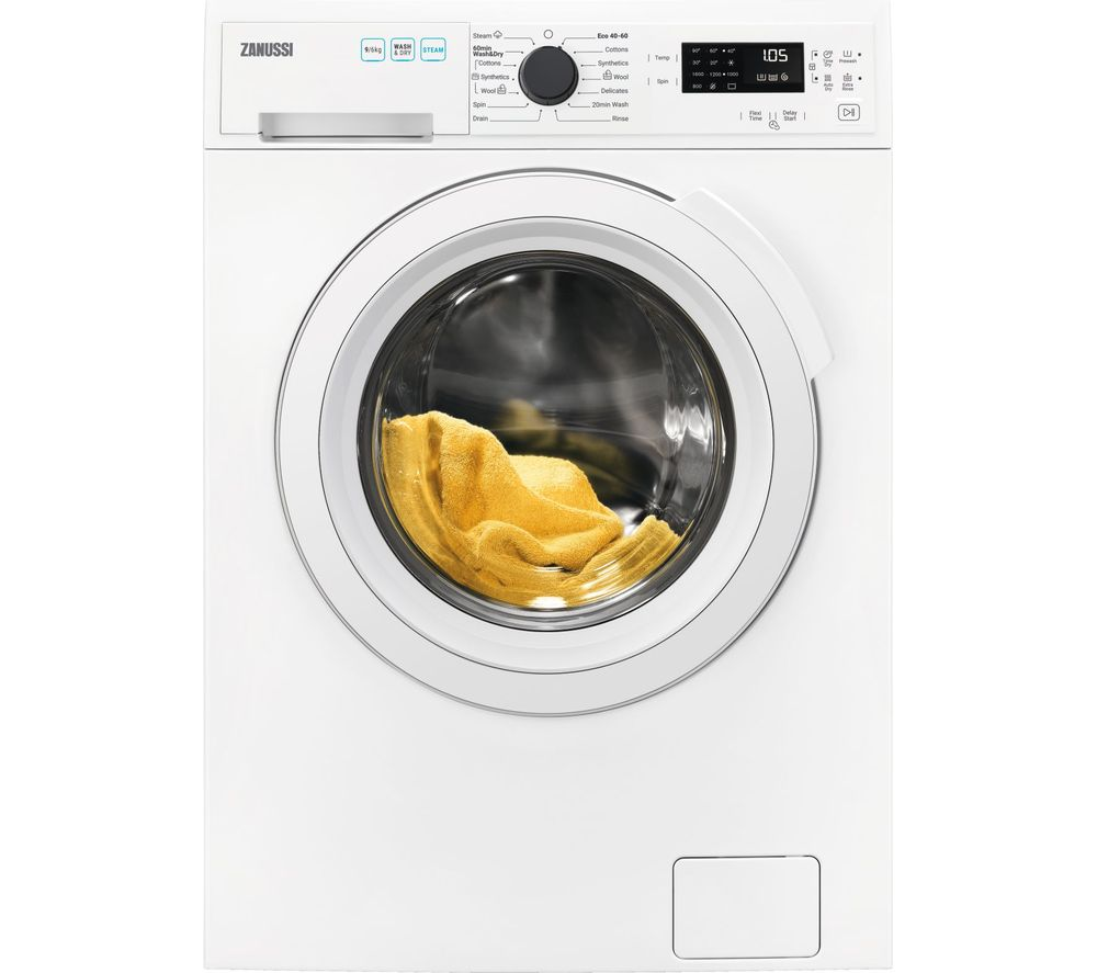 ZANUSSI AutoAdjust ZWD96SB4PW 9 kg Washer Dryer - White, White