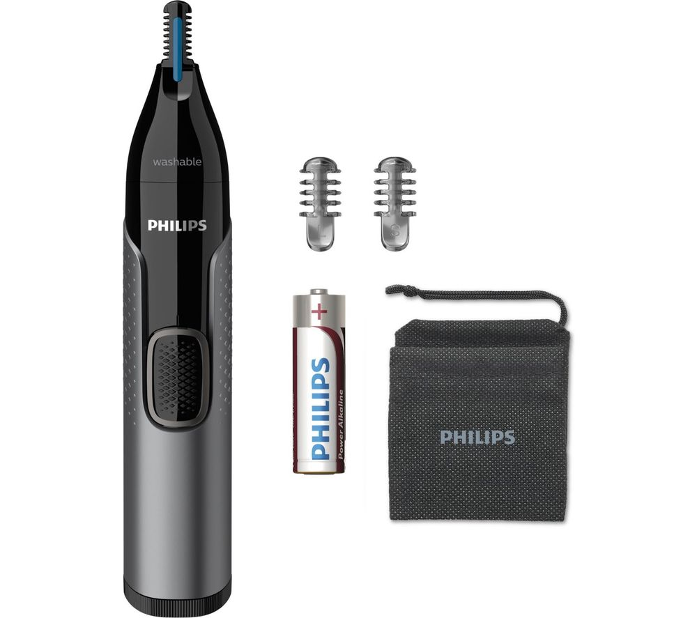 PHILIPS Series 3000 NT3650/16 Wet & Dry Nose, Ear & Eyebrow Trimmer - Black