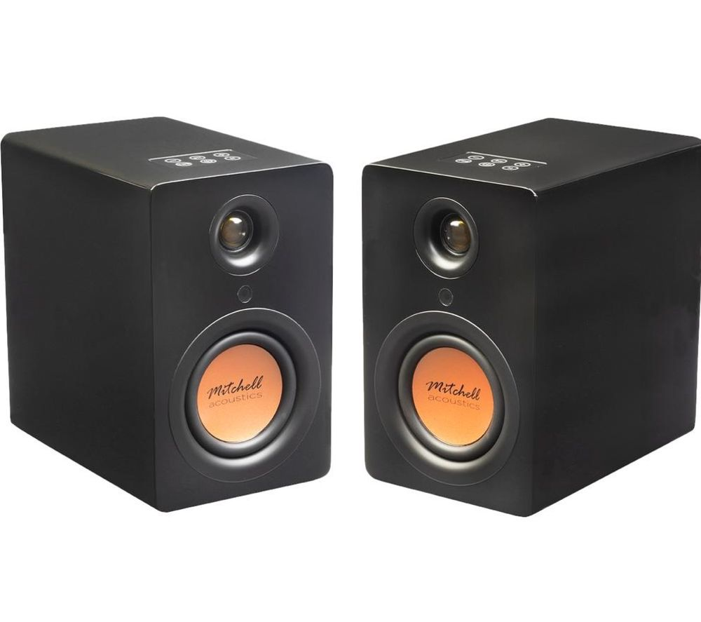 MITCHELL Acoustics uStream One Bluetooth Bookshelf Speakers - Black