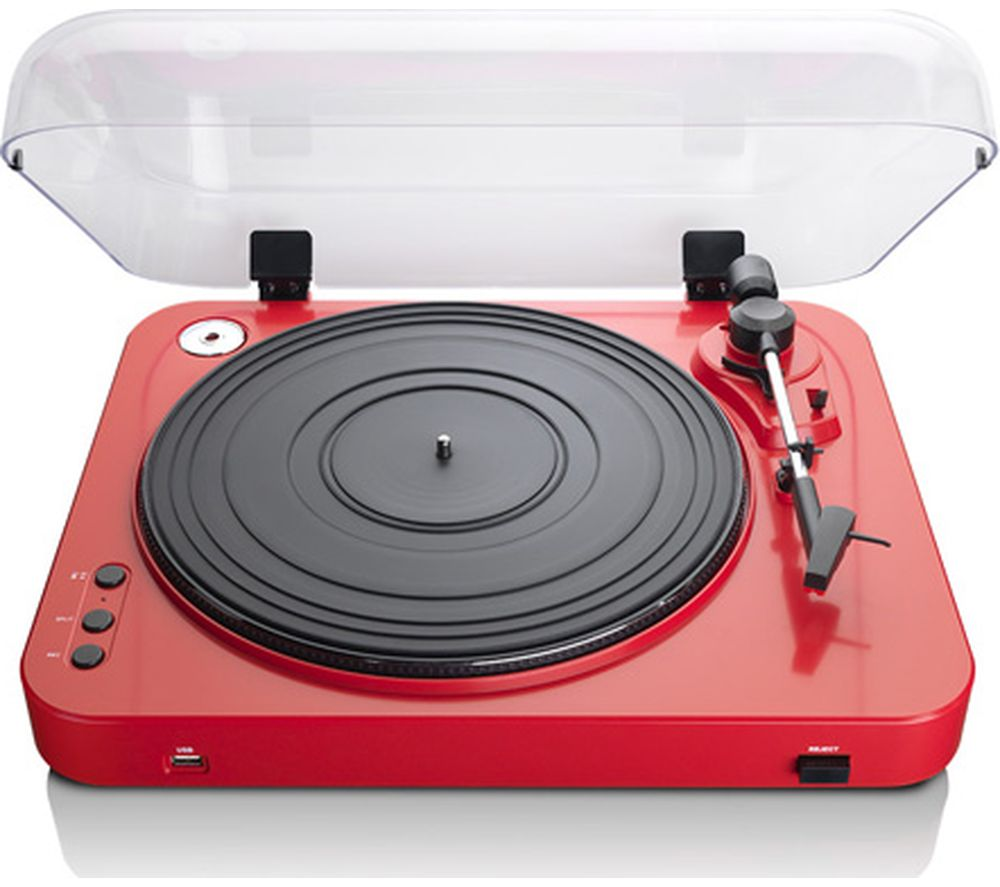 LENCO L-85 Belt Drive Turntable - Red, Red
