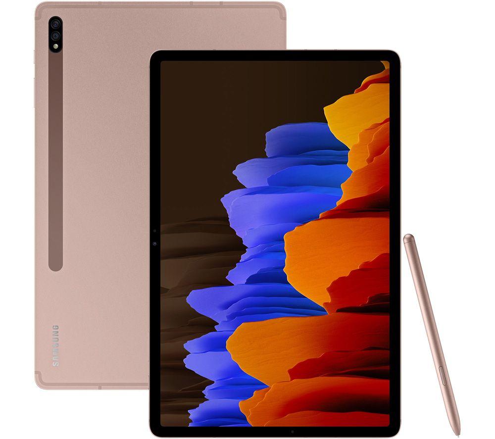 "SAMSUNG Galaxy Tab S7 Plus 12.4"" Tablet - 256 GB, Mystic Bronze"