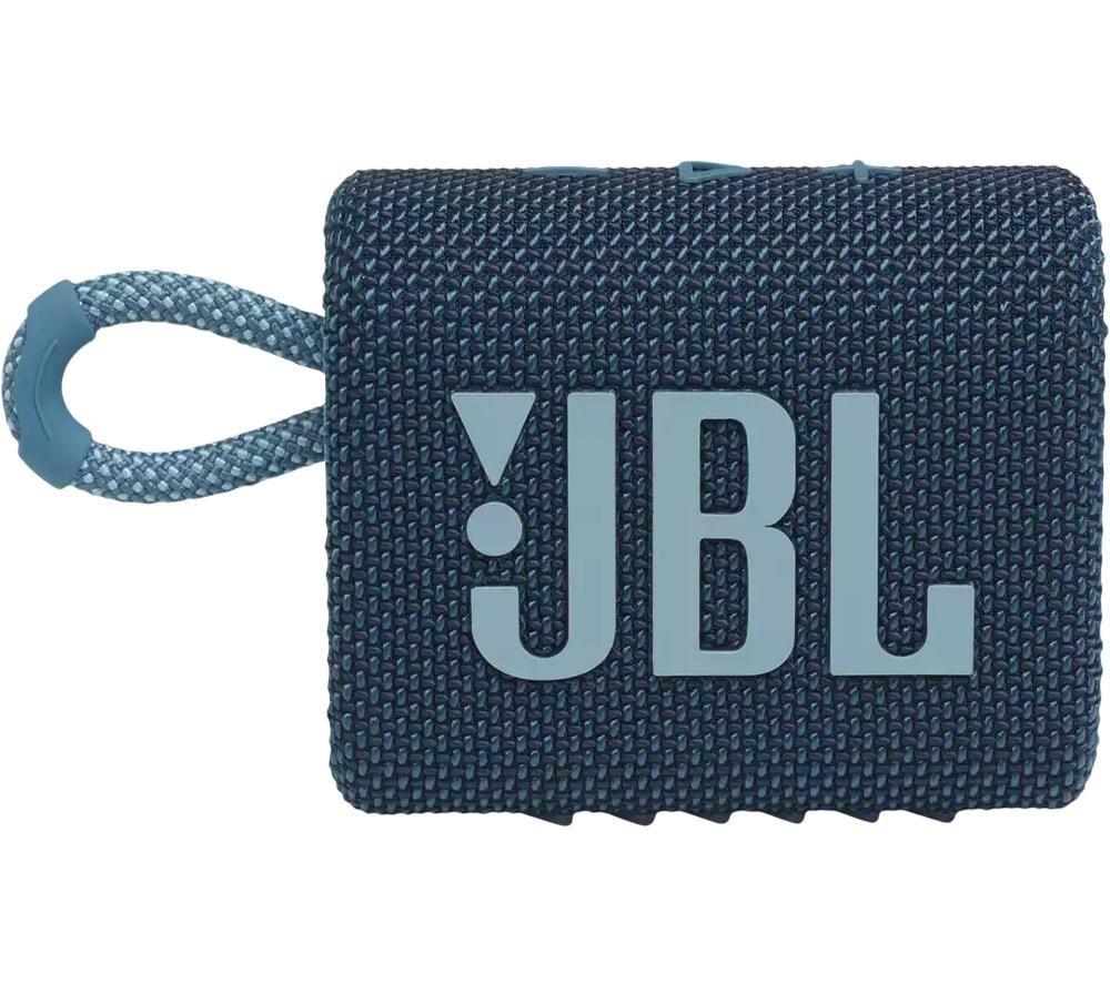 JBL GO3 Portable Bluetooth Speaker - Blue