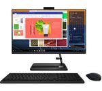 £499, LENOVO IdeaCentre AIO 3 23.8inch All-in-One PC - AMD Ryzen 3, 128 GB SSD, Black, AMD Ryzen 3 5300U Processor, RAM: 4GB / Storage: 128GB SSD, Full HD display,