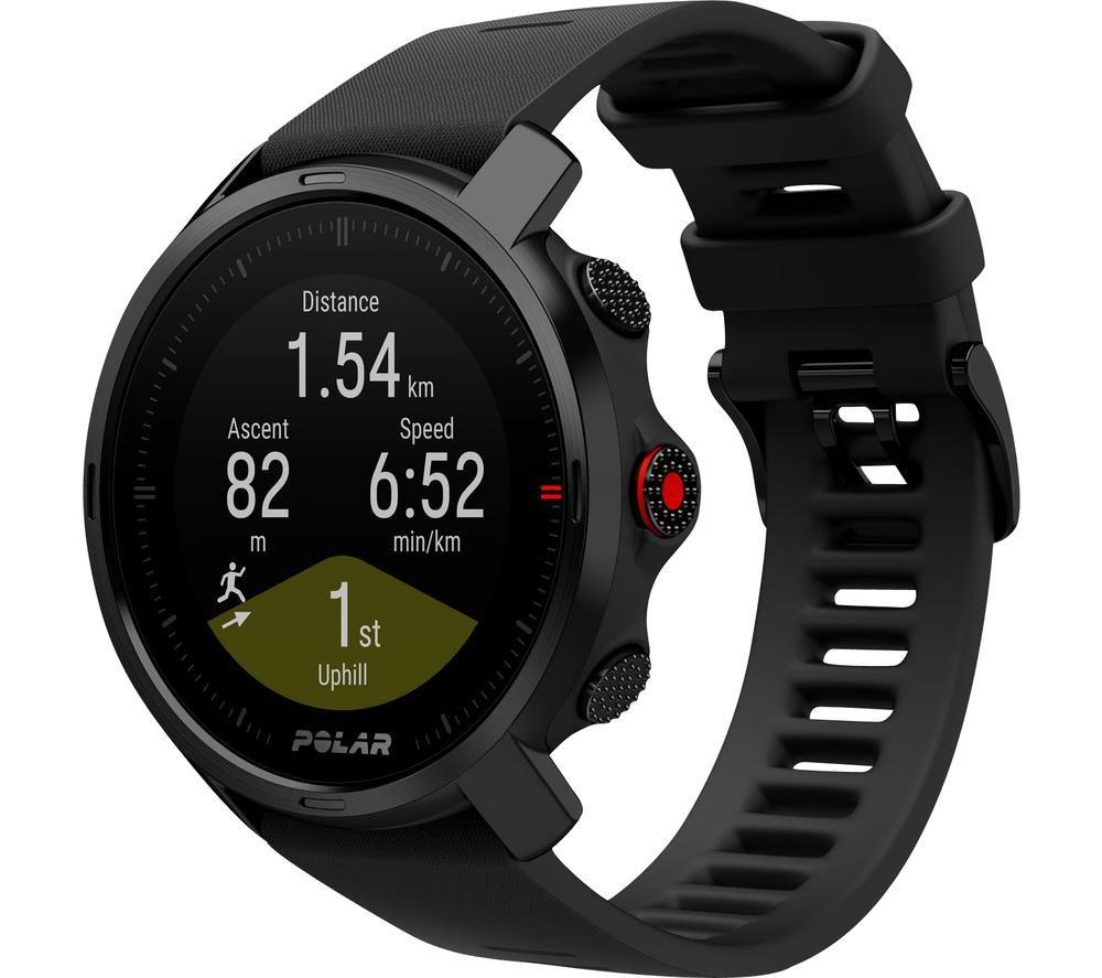 POLAR Grit X Smartwatch - Black, Medium/Large, Black