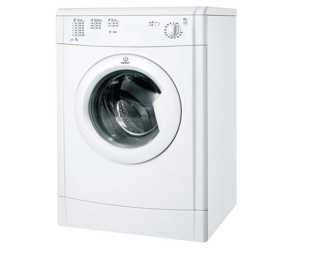 INDESIT Ecotime IDV75 Vented Tumble Dryer - White + IWC91482ECO Ecotime Washing Machine - White