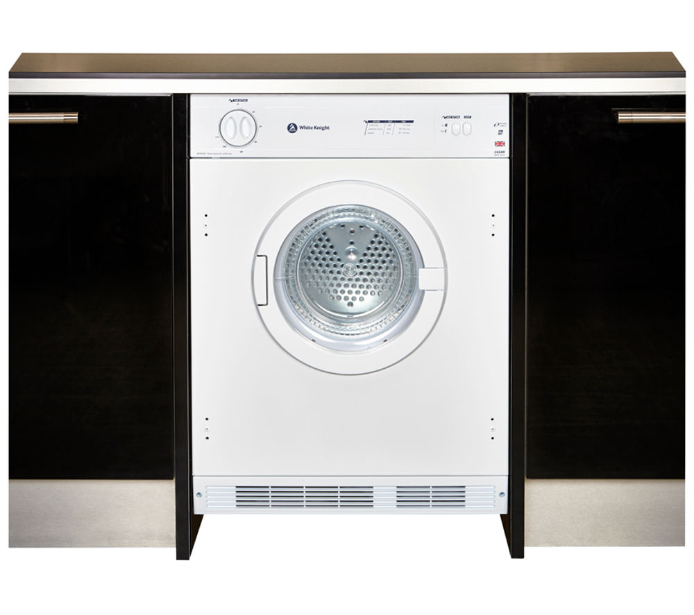 WHITE KNIGHT C43AW Integrated Vented Tumble Dryer - White