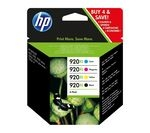 HP 920XL Cyan, Magenta, Yellow & Black Ink Cartridges - Multipack