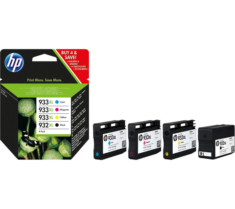 buy hp hp932xl hp 933xl cyan magenta yellow black ink cartridges multipack free delivery. Black Bedroom Furniture Sets. Home Design Ideas