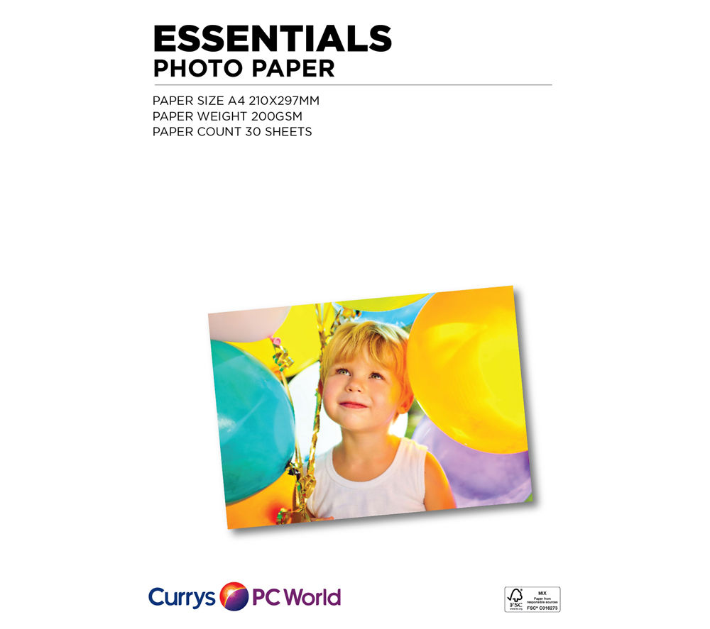 Image of ESSENTIALS A4 Photo Paper - 30 Sheets