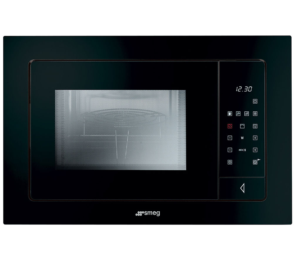 Image of SMEG FME120N Linea Style Built-in Microwave with Grill