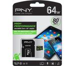 PNY Performance Class 10 microSD Memory Card - 64 GB
