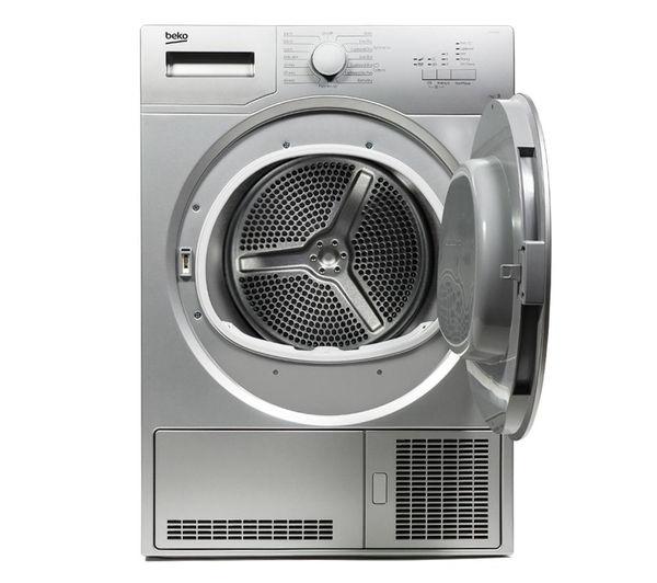 Buy Beko Dcx71100s Condenser Tumble Dryer Silver Free