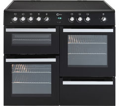 Milano 100 MLN10CRK Electric Range Cooker - Black & Chrome
