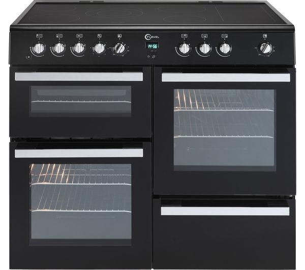 Image of FLAVEL Milano 100 MLN10CRK Electric Range Cooker - Black & Chrome