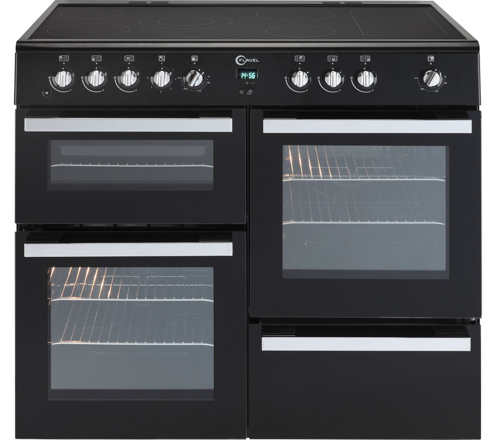 Flavel Milano 100 Mln10crk Electric Range Cooker Black
