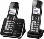 PANASONIC KX-TGD322EB Cordless Phone with Answering Machine - Twin Handsets