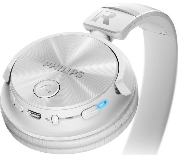 Buy PHILIPS SHB3060WT/00 Wireless Bluetooth Headphones ...