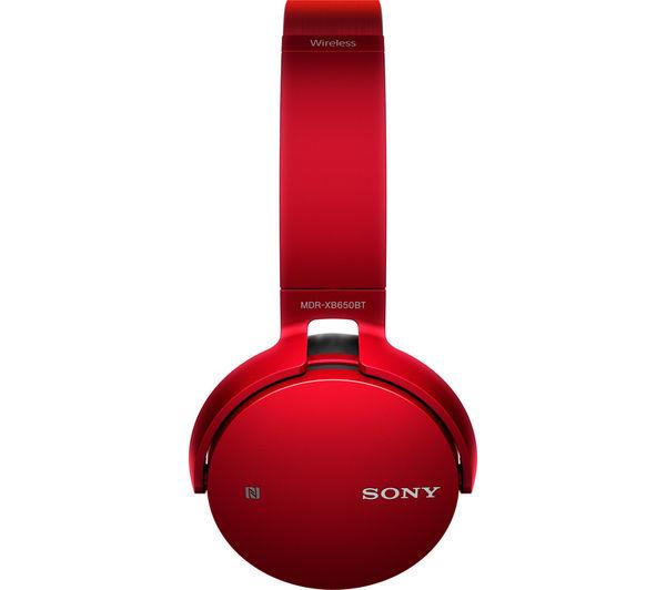 270b438c319 Buy SONY MDR-XB650BTR EXTRA BASS Wireless Bluetooth Headphones - Red ...
