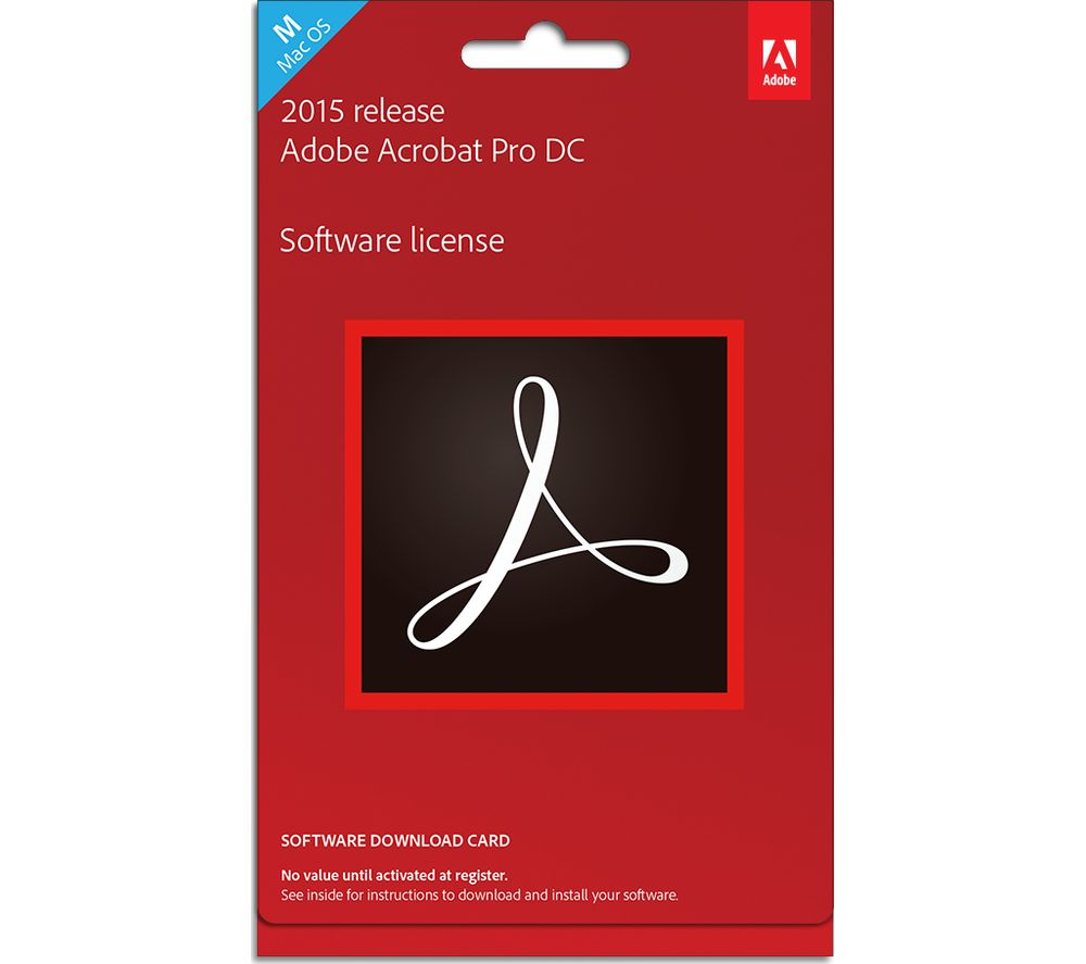 ADOBE Acrobat 15 Pro DC Mac – 1 user, Perpetual