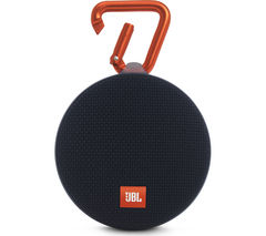JBL Clip 2 Portable Bluetooth Wireless Speaker - Black