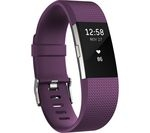 FITBIT Charge 2 - Plum, Large