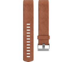 FITBIT Charge 2 Classic Accessory Band - Brown Leather, Large