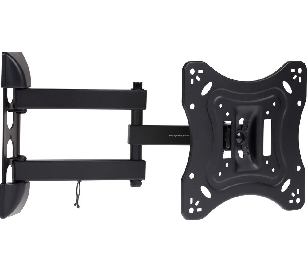 PROPER Heavy-Duty Swing Arm Full Motion TV Bracket