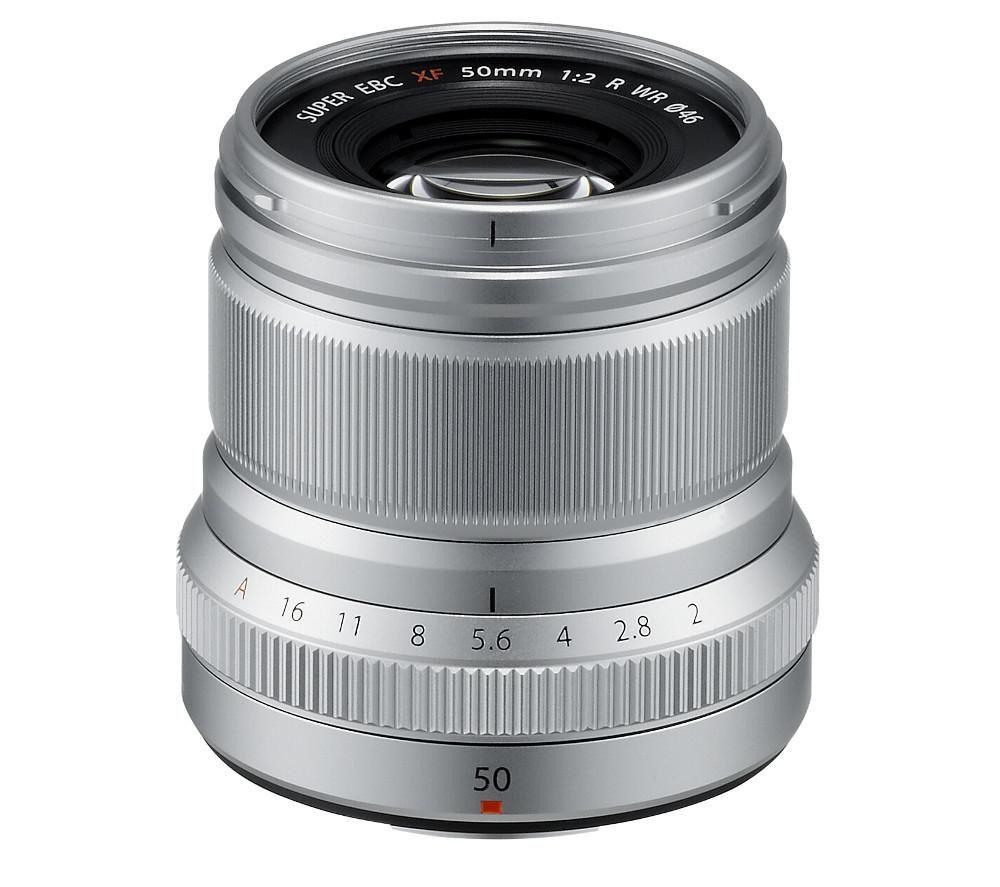 FUJIFILM Fujinon XF 50 mm f/2 WR Standard Prime Lens - Silver