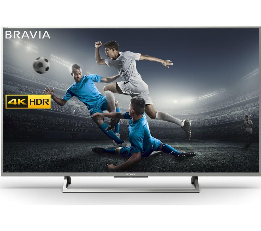 buy sony bravia kd49xe8077 49 smart 4k ultra hd hdr led. Black Bedroom Furniture Sets. Home Design Ideas
