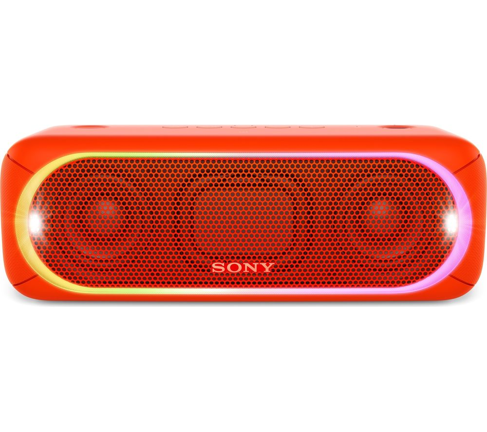 SONY SRS-XB30 Portable Bluetooth Wireless Speaker - Red