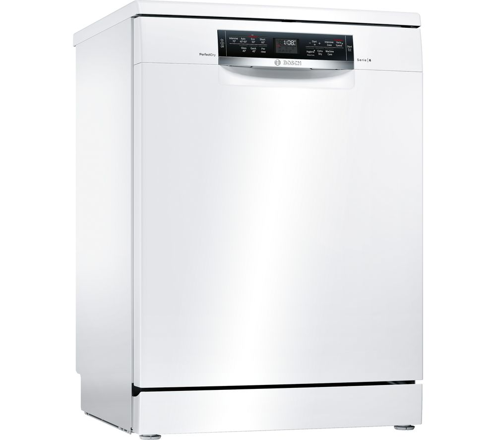 buy bosch serie 6 sms67mw00g full size dishwasher white. Black Bedroom Furniture Sets. Home Design Ideas