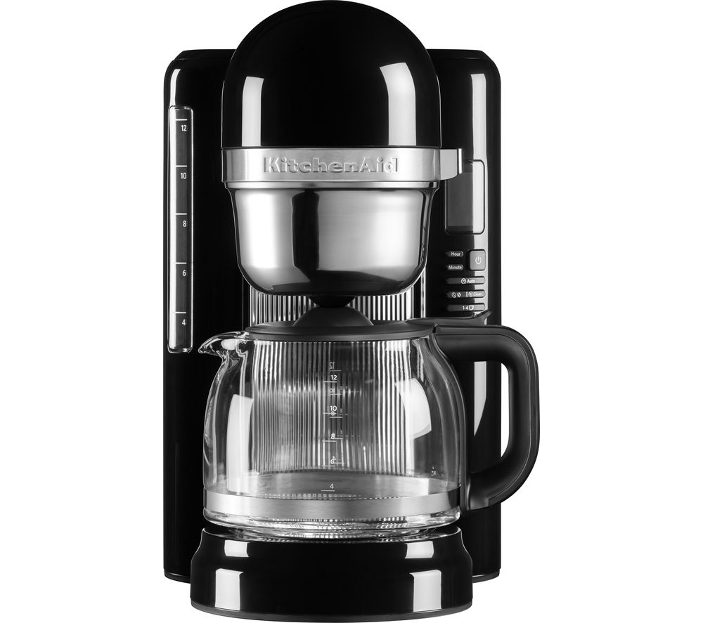 KITCHENAID 5KCM1204BOB Filter Coffee Machine - Onyx Black, Black