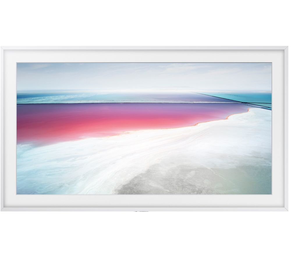 "SAMSUNG The Frame Art Mode UE55LS003 55"" Smart 4K Ultra HD HDR LED TV & White Bezel"