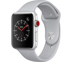 APPLE Watch Series 3 Cellular - Silver, 42 mm