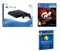 SONY PlayStation 4 Slim, Gran Turismo Sport & 3 Month PlayStation Plus Bundle