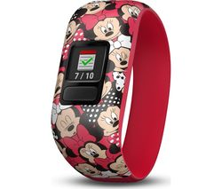 GARMIN vivofit jr 2 Kid's Activity Tracker - Minnie Mouse, Stretchy Band