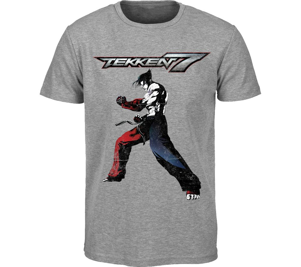 TEKKEN 7 T-Shirt - Medium, Grey