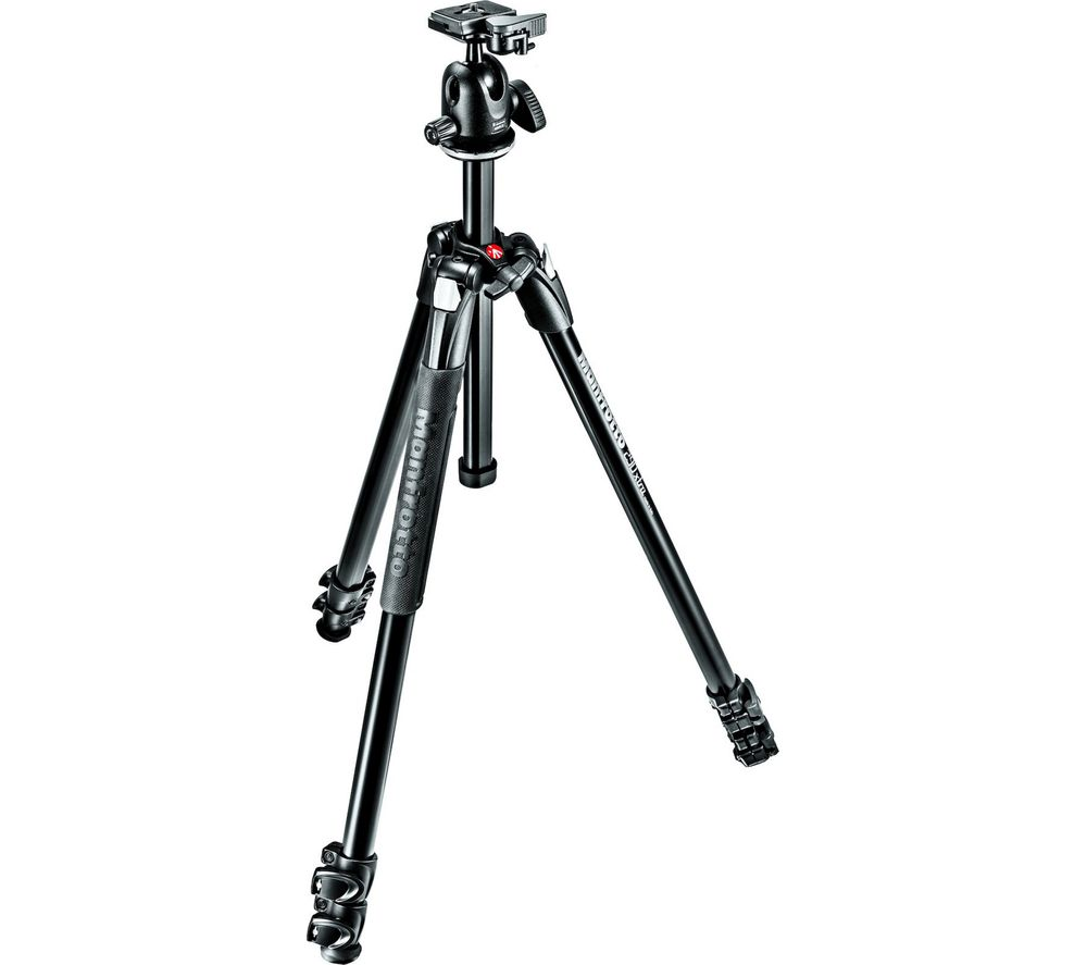 MANFROTTO 290 Light Alu 3-Section MK290LTA3-BH Tripod - Black
