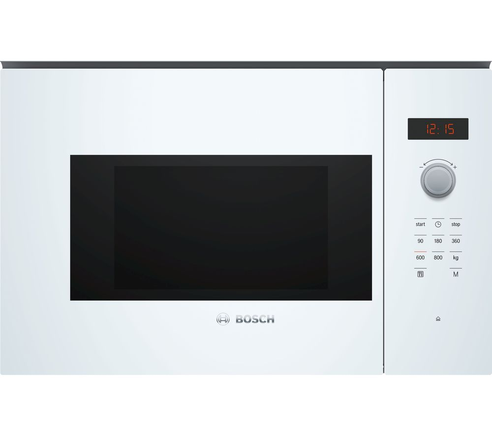 BOSCH Serie 4 BFL523MW0B Built-in Solo Microwave - White