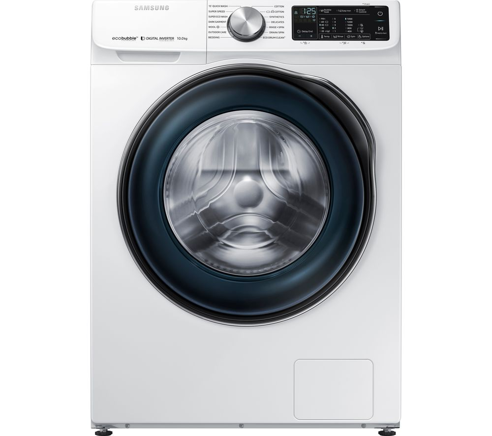 SAMSUNG ecobubble WW10N645RBW/EU Smart 10 kg 1400 Spin Washing Machine - White