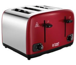 RUSSELL HOBBS Cavendish 24092 4-Slice Toaster - Red