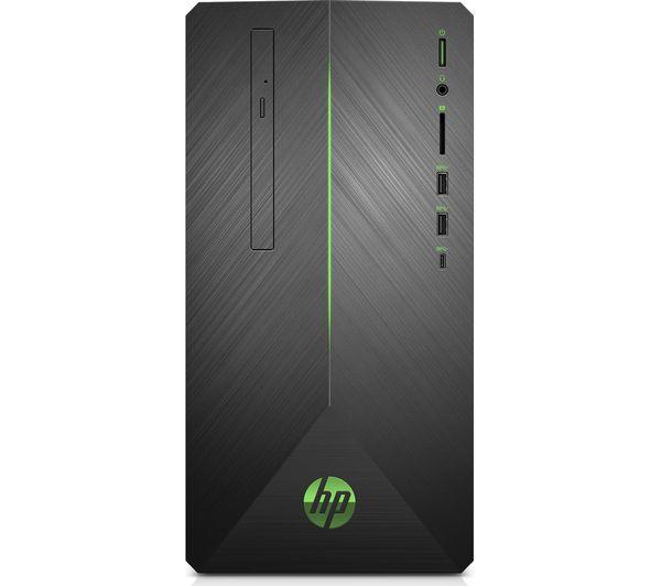 Image of HP Pavilion 690-0011na Intel® Core™ i5 Desktop PC - 1 TB HDD, Black, Black