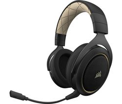 CORSAIR HS70 SE Wireless 7.1 Gaming Headset - Black & Gold