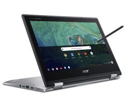 "ACER Spin 11 11.6"" 2 in 1 Chromebook - Intel® Celeron™, 32 GB eMMC, Silver"