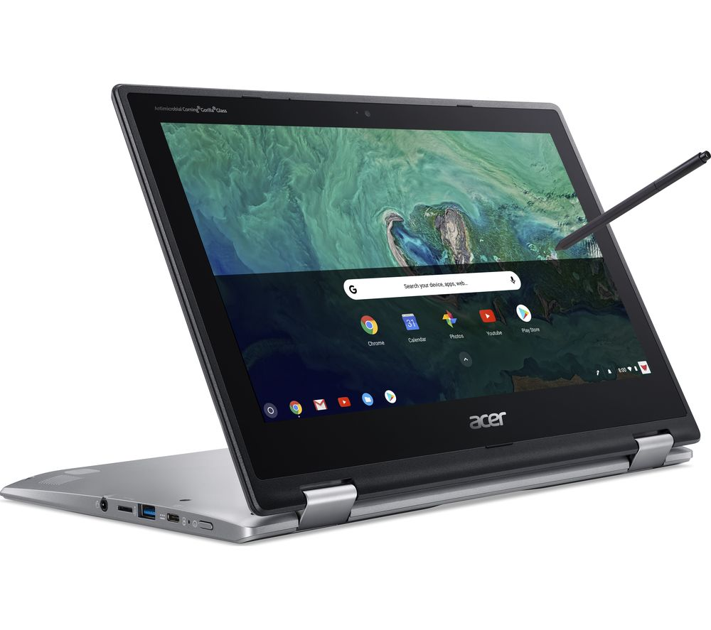"Image of ACER Spin 11 11.6"" Intel® Celeron 2 in 1 Chromebook - 16 GB eMMC, Silver, Silver"